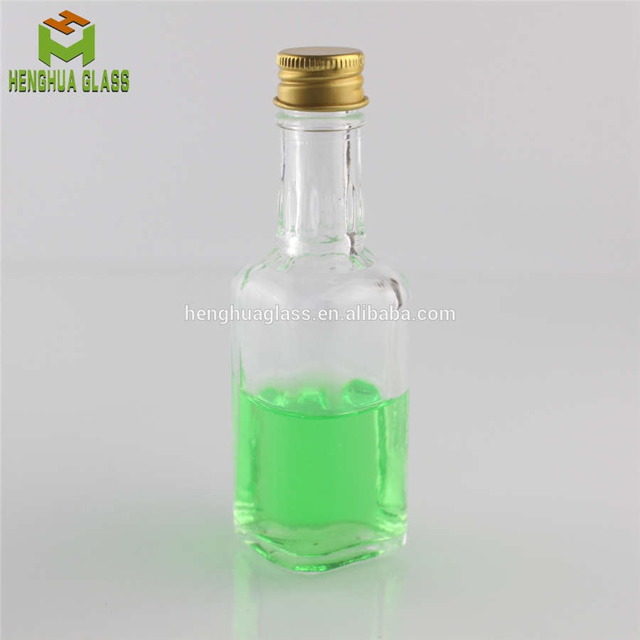 50ml square glass spirit bottle liquor bottle