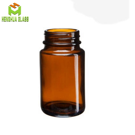75ml wide mouth amber glass jar